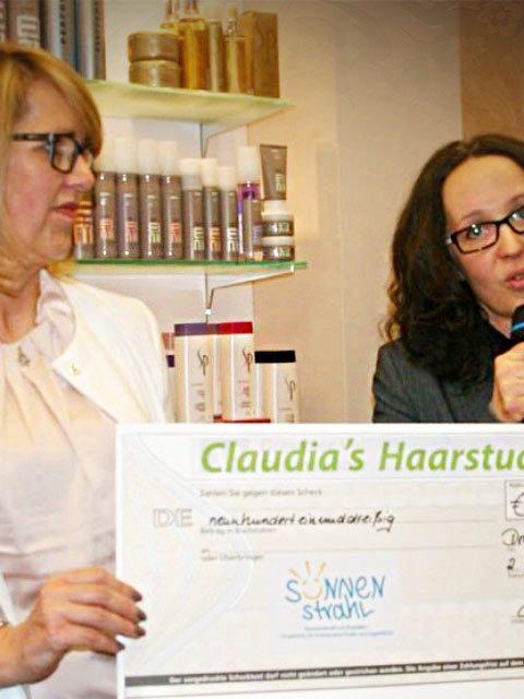 20 Jahre Claudia´s Haarstudio - Spendenaktion Sonnenstrahl e.V.