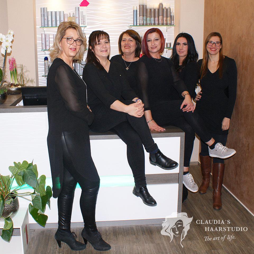 Aktuelle Haartrends und Haarstyling-Produkte gibt es bei den Friseuren und Haarstylisten im Claudias Haarstudio - Team