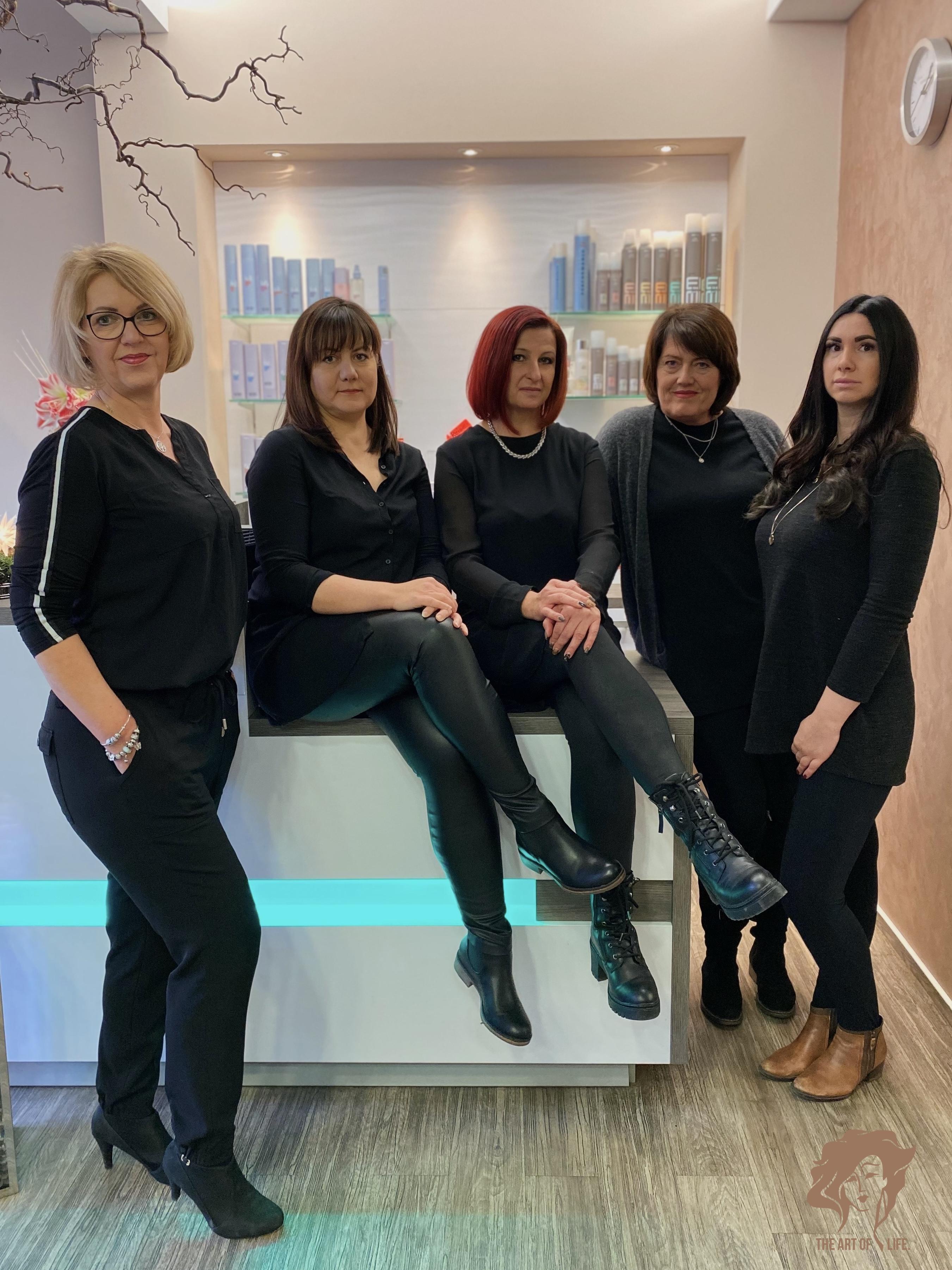 Aktuelle Haartrends und Haarstyling-Produkte gibt es bei den Friseuren und Haarstylisten im Claudia´s Haarstudio - Team